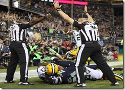 replacement referees touchdown